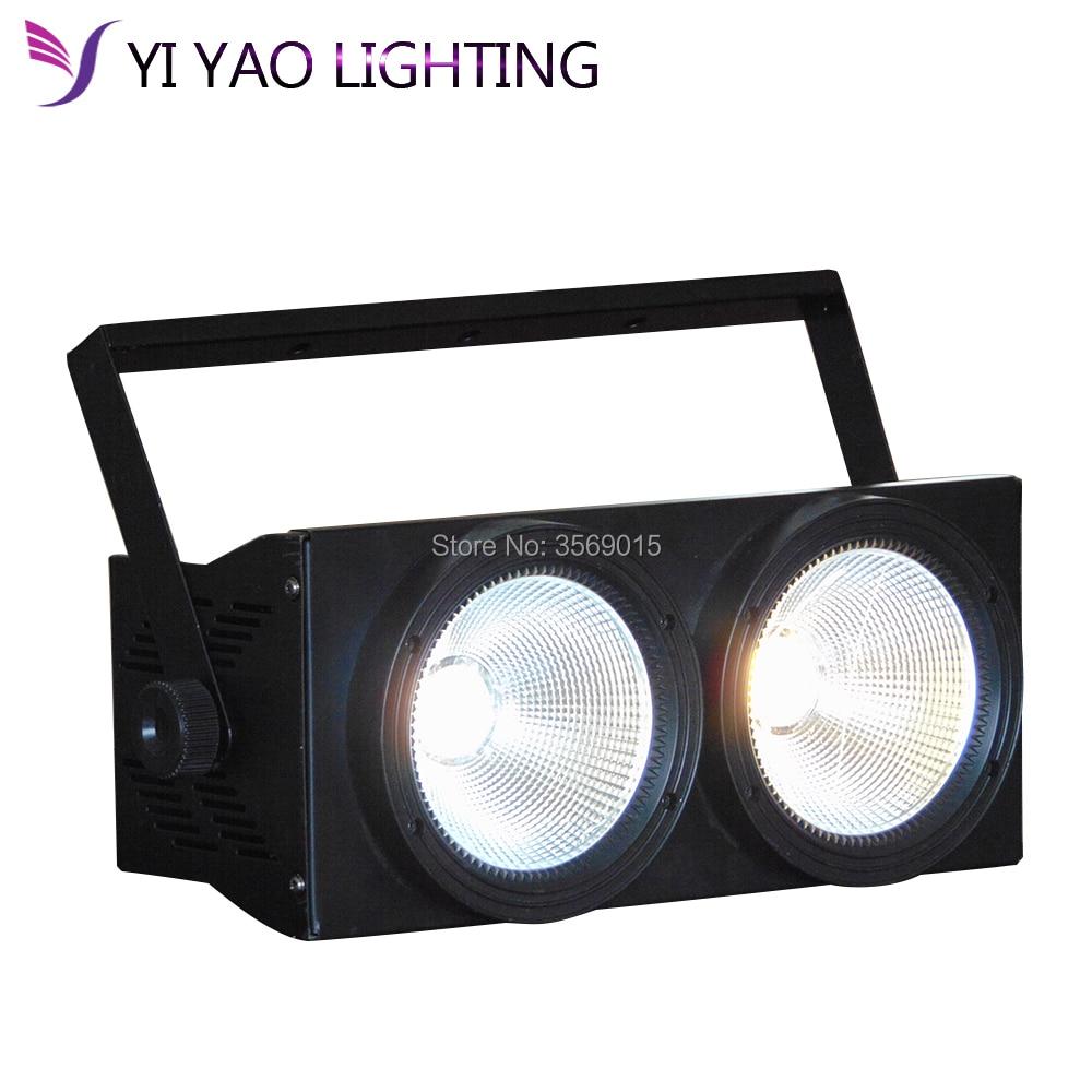 NUOVO 2 occhi 2x100 w LED Bianco Caldo 200 W Audience Blinder DMX COB 100 W LED PAR