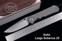 JUFULE Brand Large Sebenza 25 CPM S35vn TC4 titanium handle folding vegetables fruit pocket camping hunt EDC tool kitchen knife