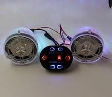 12 v Impermeable Estéreo de Radio ATV Motocicleta Sistema de Sonido de Audio de Radio MP3 USB Reproductor de función bluetooth micrófono incorporado