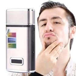 220 V Портативная перезаряжаемая электрическая бритва-триммер Бритва мужская борода инструменты для удаления волос Поршневой Тип станок для...