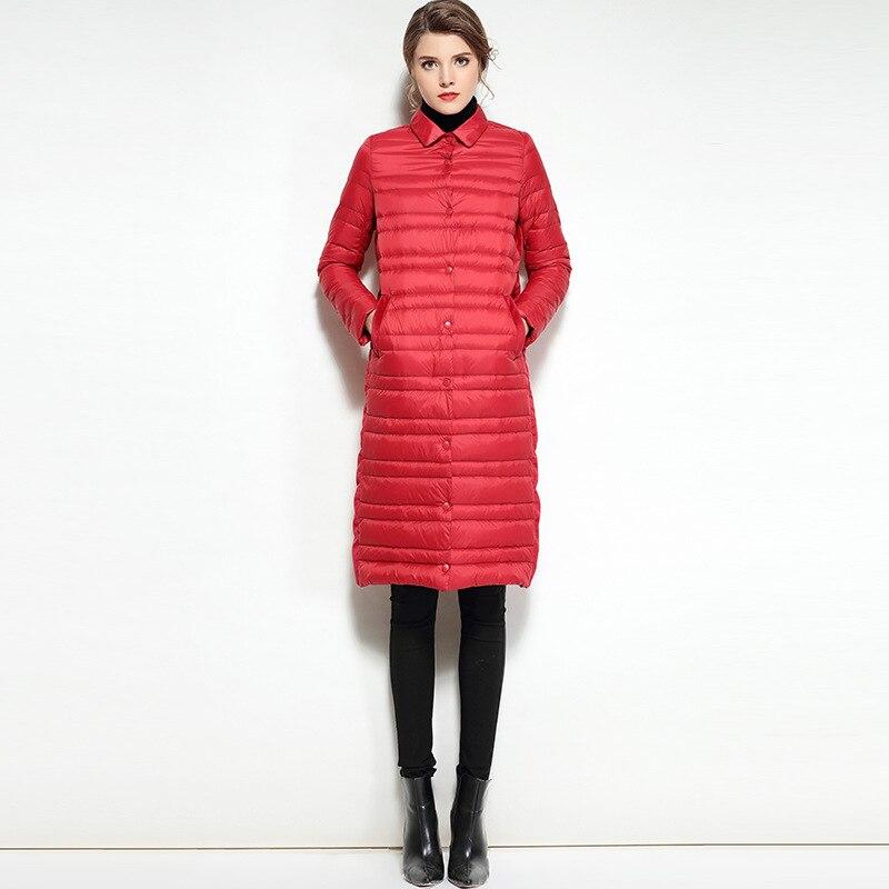Rojo Ligero Coreano Chaqueta Invierno Chaquetas Mujer Plumas BFxB1gwvqW