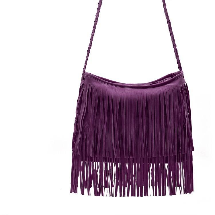 Fashion PU Leather Handbag Tassel bags Vintage Bucket Women Shoulder bag Small Ladies messenger bags Tote bolsa 2015 BH249 (6)