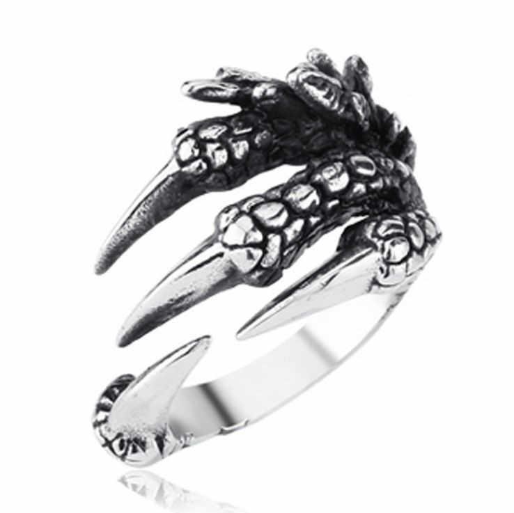 Bagues pour hommes style gothique Punk style rétro, à la mode, crâne, loup, Dragon, hommes, Bijoux Rock, accessoires pour Halloween, Bijoux Anillo Hombre
