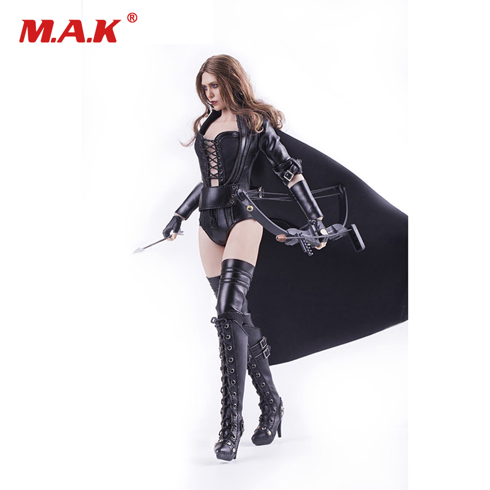 1/6 Scale Night Killer Action Figure Clothes Set Female Leather Lingerie & Boots & Accessories for 12 inches Figure Body hot figures doll accessories pirp toys 1 6 batman police commissioner gordon inspector dresscode clothes set for 12 figure body