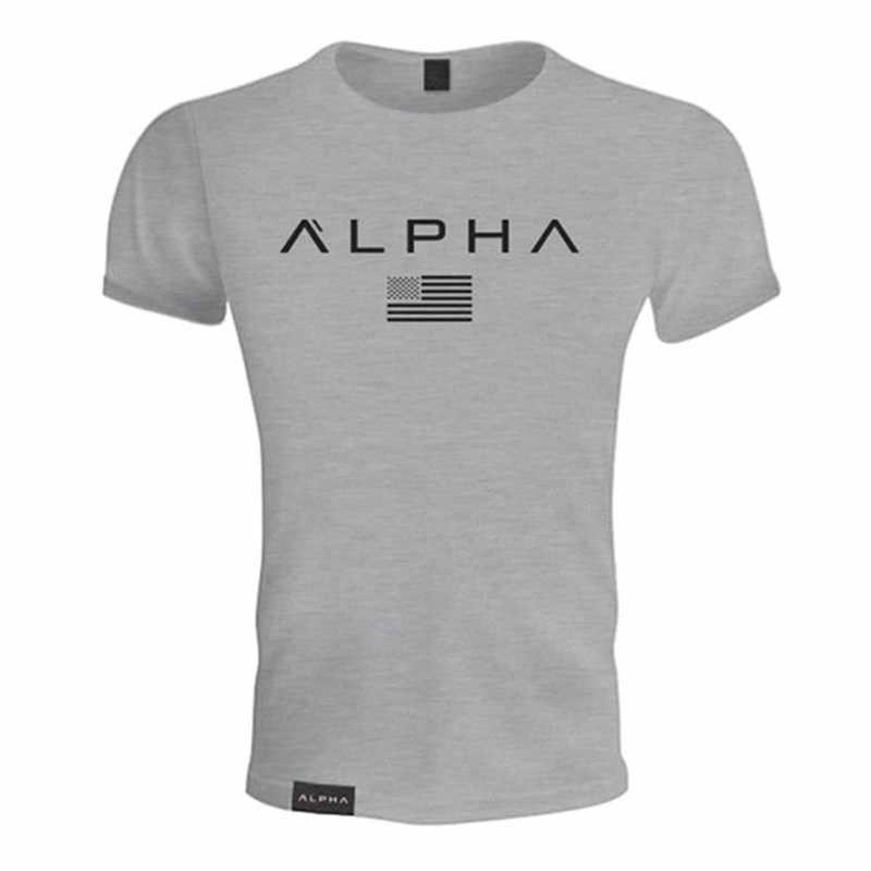 2019 コットン Tシャツシャツメンズ半袖ランニングシャツ男性トレーニングトレーニング Tシャツフィットネストップスポーツ Tシャツ rashgard