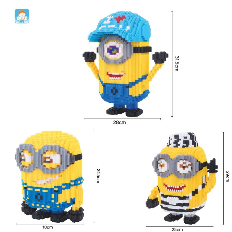 xizai connection blocks Big size Cartoon Building toys Auction Figures Model Educational Bricks Toys for Children Cute Gifts