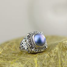 Real Pure 925 Silver Sterling Ring Designer Jewelry Luxury Pearl Rings For Women Natural Stone Fine Jewellery Bague