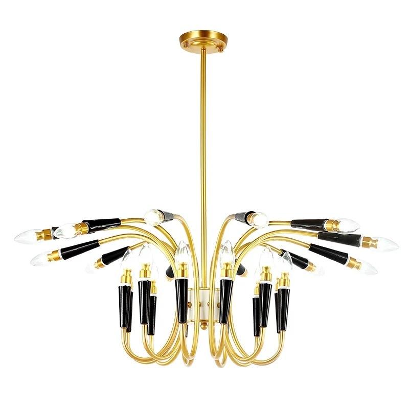 24 Heads Modern Loft Industrial Pendant Lights Black White Art Deco Lamp Dinning Room Suspension Lights ламинат classen loft cerama санторини 33 класс