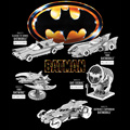 5pcs Set 3D Metal Puzzle Batman V Superman Batmobile 1989 Bat Wing Classic TV Bat-Single Building Kit DIY 3D Laser Cut Model Toy