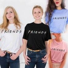 Summer Friends TV Show T shirt Women Letter Printed Vogue Harajuku TShirt Best Tee Shirt femme Tops korean Clothes