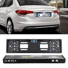 Авто парктроник ЕС Автомобильный номерной знак рамка HD ночное видение Автомобильная камера заднего вида с 4 светодиодами