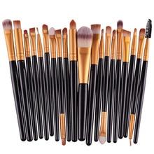 20PCS Make Up Brushes Cosmetic Plastic Handle Nylon Brush Basic Eyebrow Eyeshadow Mascara Lip Makeup Brushes Set