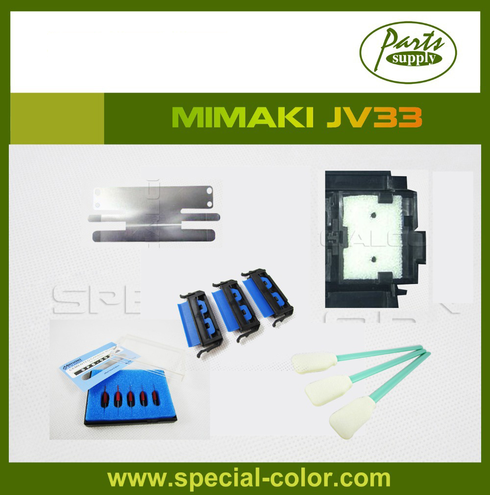Mimaki JV33 Cutting Blade Printer Wiper with Stent JV33 Sponge Media Clamp for Mimaki best price mimaki jv33 jv5 ts3 ts5 piezo photo printer encoder raster sensor with h9730 reader for sale 2pcs lot