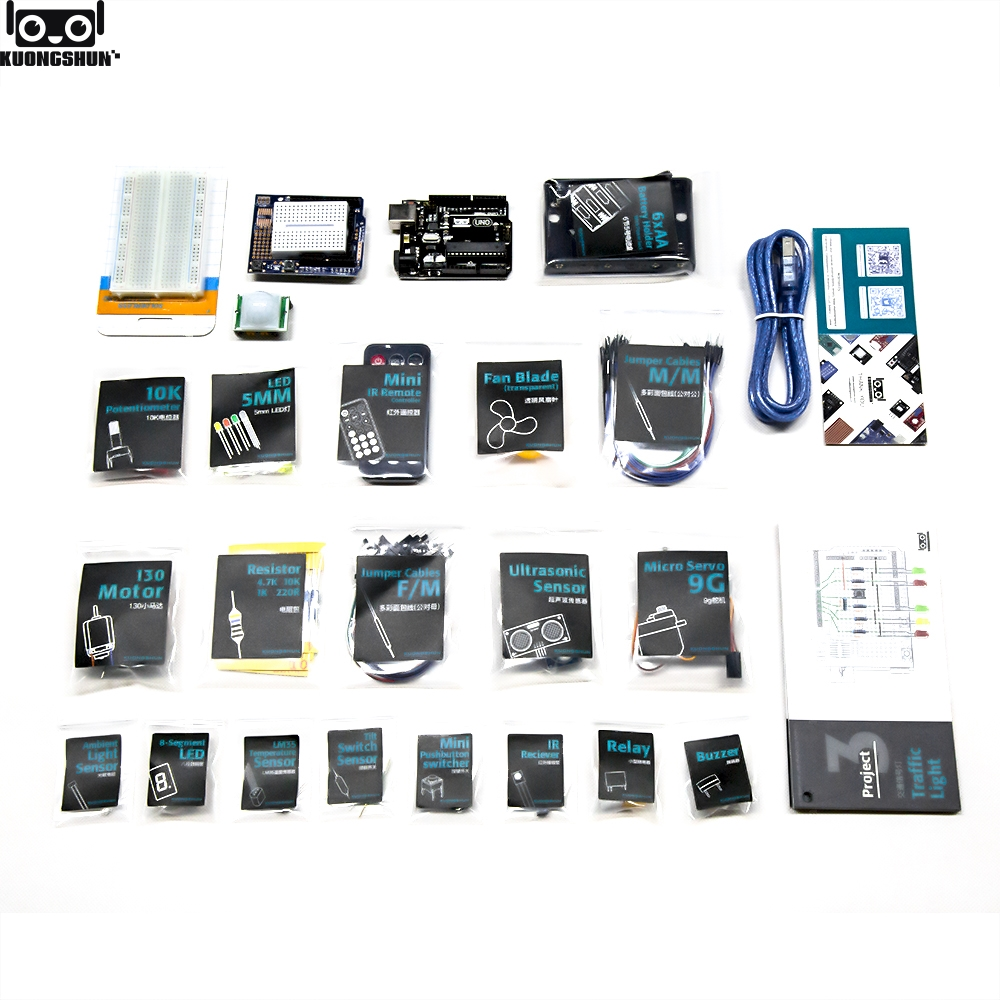 Image 3 - KUONGSHUN UNO R3 Starter Kit For Arduino UNO R3 Projects With Gift Box And User Manual-in Integrated Circuits from Electronic Components & Supplies