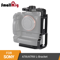 SmallRig L-Bracket for Sony A7III/A7RIII Camera and Battery Grip Quick Release Half Cage With Top Plate+L Plate -2341