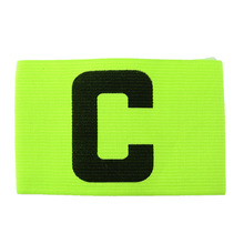 New ootball Soccer Flexible Sports Adjustable Player Bands Fluorescent Captain Armband Colorful J2