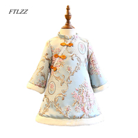 2018 New Spring Winter Baby Girls Dresses Fashion Chinese Style Casual Long Sleeves Girl S Cheongsam