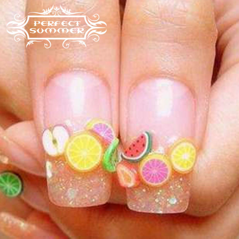 Perfect summer nail art decorations fruit flower slices 3d polymer perfect summer nail art decorations fruit flower slices 3d polymer clay tiny fimo wheel diy nail art manicure 1 wheel in rhinestones decorations from prinsesfo Image collections