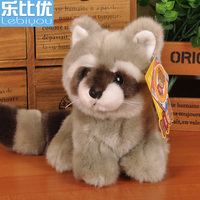 Small Raccoon Korean Doll Plush Toys Children Creative Gift Car Doll