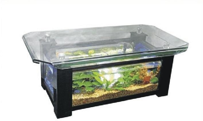 Crimping Rectangular Glass Coffee Table Aquarium Medium Ecological