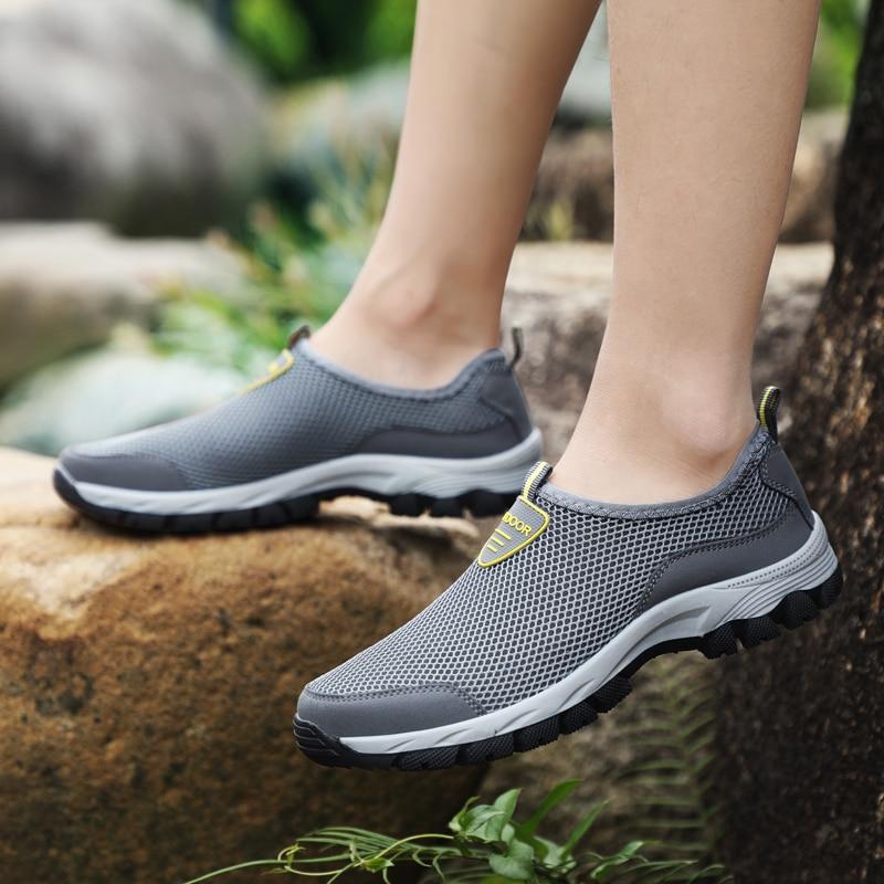 TKN 2019 herren Outdoor Wandern Schuhe Männer Sommer Mesh Atmungsaktive Wasserdichte Slip-Auf Outdoor Schuhe Mann Trekking Trail schuhe 1811