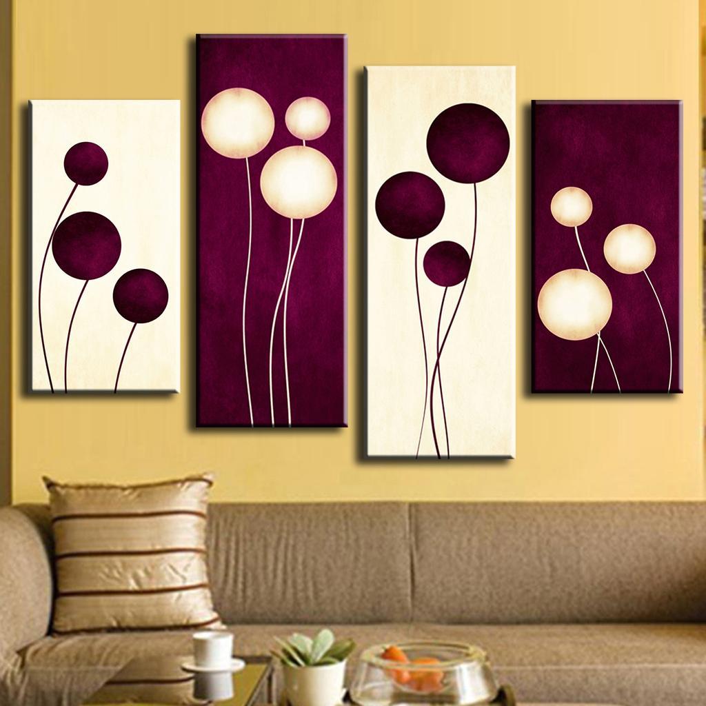 Chic Abstract Wall Art Purple Circles Balloon Shapepainting Prints On Canvas Home Painting Calligraphy Fromhome Garden Abstract Wall Art Purple Circles Balloon