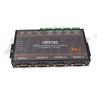4 portas servidor serial rs232 rs485 rs422 ir para tcp/ip ethernet linux