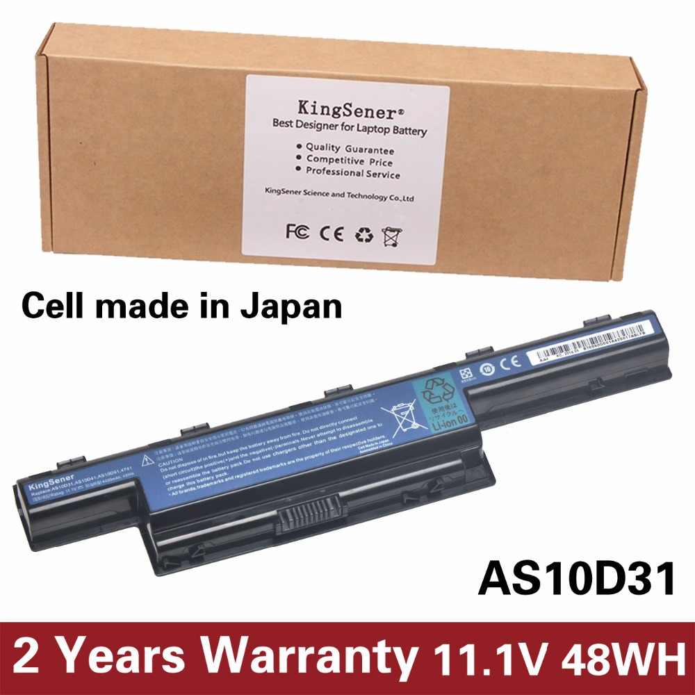 KingSener Japanese Cell New AS10D31 Battery For Acer 4551G 4741G 5741G 5742G 5750G 7750G 7760G AS10D51 AS10D71 AS10D81 AS10D73 kingsener japanese cell new 191yn laptop battery for dell alienware 15 r1 15 r2 191yn 14 8v 92wh free 2 years warranty