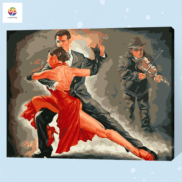 Frameless digital painting by number tango dancers lover acrylic frameless digital painting by number tango dancers lover acrylic paint abstract modern wall art canvas painting malvernweather Image collections
