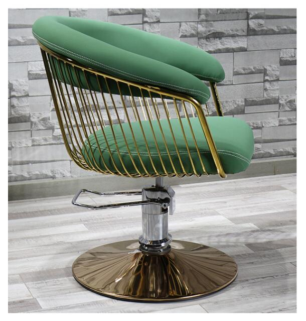 Fashion Barbershop Hair Salons Hair Salons Dedicated Network Red Cut Hair Chair Simple Japanese Style Chair Chair Chair