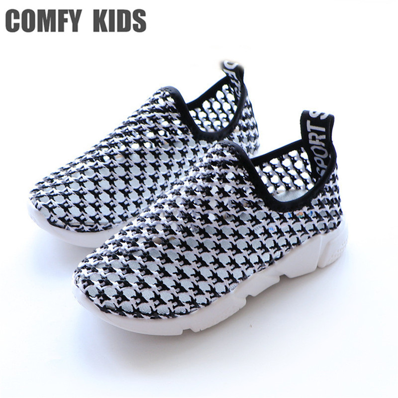 comfy kids 2018 casual shoes baby kids hollow out net cloth girls tennis shoes students pedaling boy childrens shoes mesh shoes