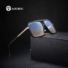 상자 렌즈 블랙 선글라스