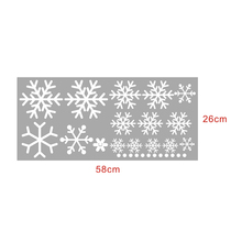 Hot Sale 16 pcs Christmas Snowflake Wall Stickers Home Decoration sticker for window glass stickers adesivo de parede infantil