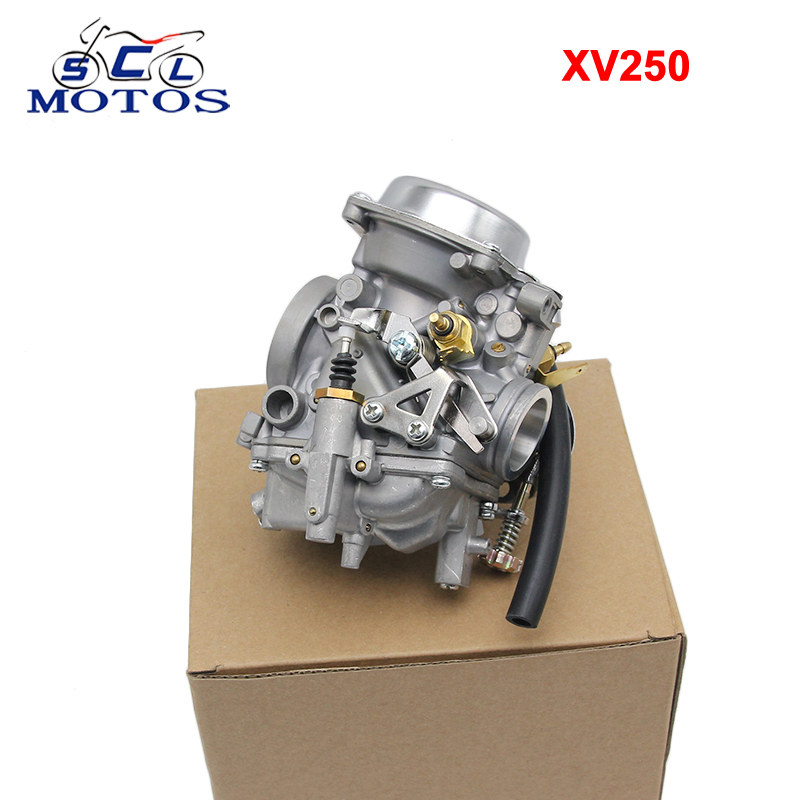 Sclmotos - Motorcycle XV250 Carburetor Assy Carb For Yamaha Virago 250 1995-2004 Route 66 1988-1990 Motorcycle Engine parts kw1 m6540 000 yamaha spare parts smt feeder cl 44mm tape guide assy