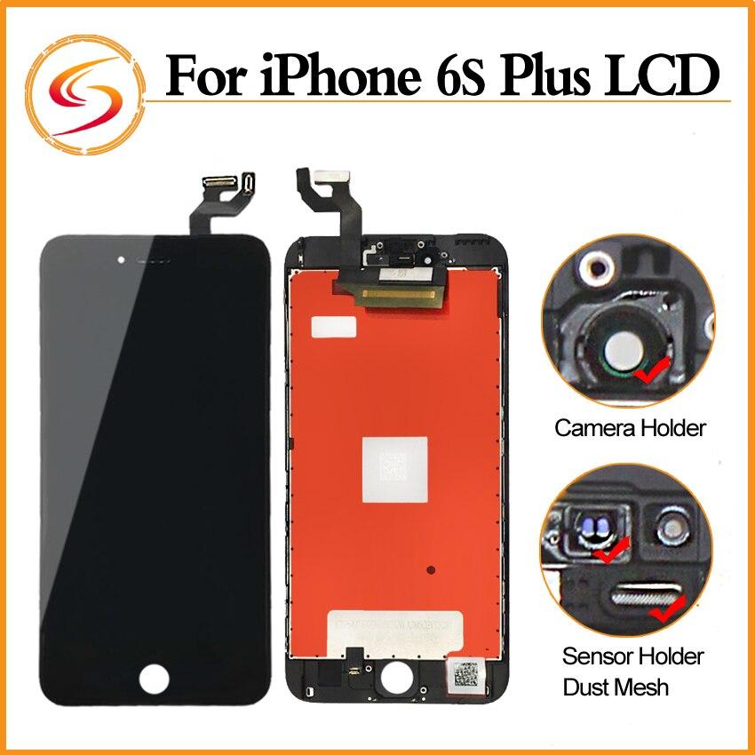 imágenes para 5 unids/lote genuino aaa + + + para iphone 6s plus lcd con 3d fuerza pantalla de reemplazo de pantalla táctil de 5.5 pulgadas envío gratis