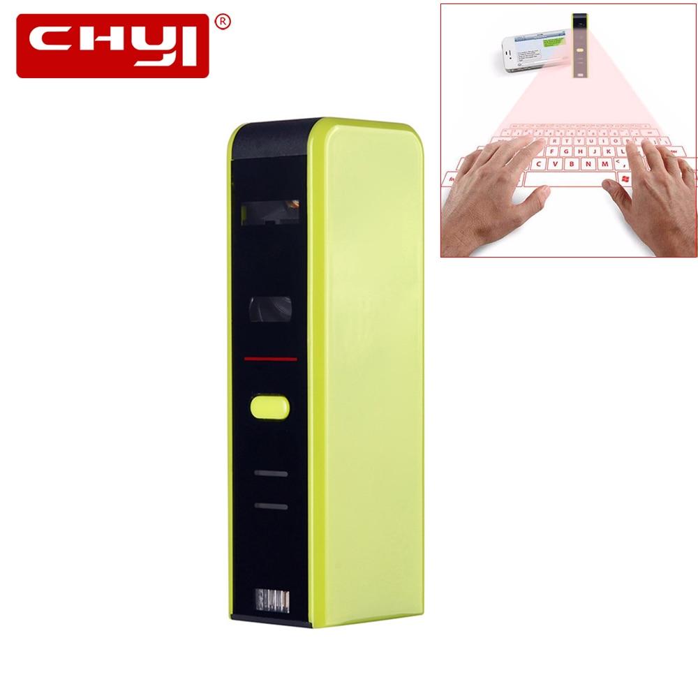 купить CHYI Wireless QWERTY Bluetooth 3.0 Virtual Keyboard Ergonomic Projection Laser Multimedia BT Keypad Mini Portable For PC Tablet онлайн
