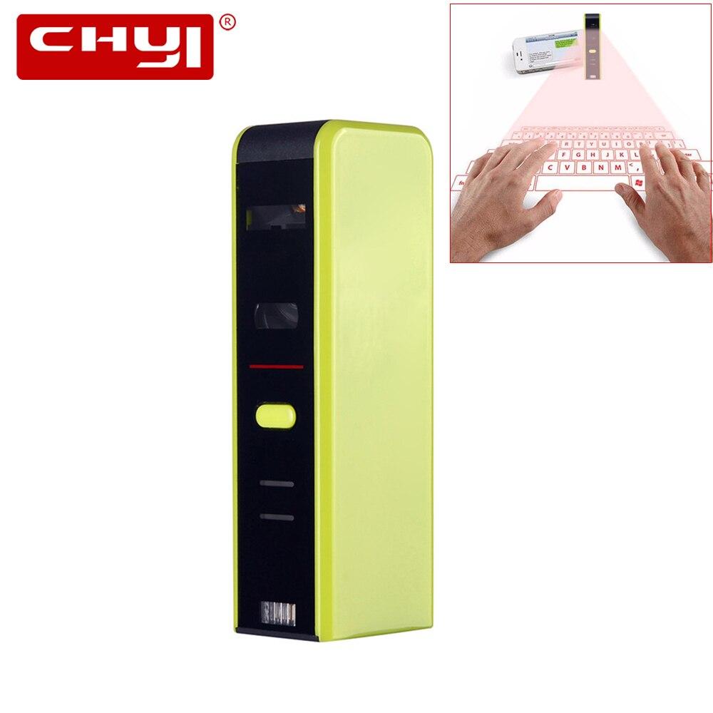 CHYI Wireless QWERTY Bluetooth 3.0 Virtual Keyboard Ergonomic Projection Laser Multimedia BT Keypad Mini Portable For PC Tablet