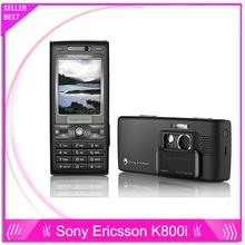 Sony ericsson k800i K800 Оригинальный Разблокирована Сотовый Телефон, 3 Г, GSM Tri-Band, 3,2-МЕГАПИКСЕЛЬНОЙ КАМЕРОЙ, Bluetooth, FM Радио, JAVA, бесплатная доставка