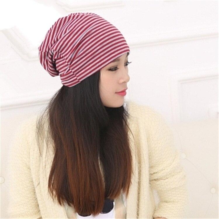 5 colors femme stiped skullies unisex autumn beanies winter warm chapeau women hat female knitted cap ladies bonnet skullies