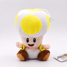 6b4440c540 16cm 4 Styles 4 Color Super Mario Plush Toy Toad Green Yellow Blue Red Open  Mushroom