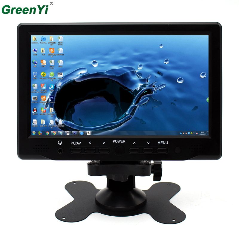Super HD LCD 7inch Monitor With VGA+AV+HDMI Ultra High Brightness Up To 800*480 Car Monitor Display Family And Car USE 7inch 800x480 lcd monitor with hdmi vga av input signal for bus and desk monitor