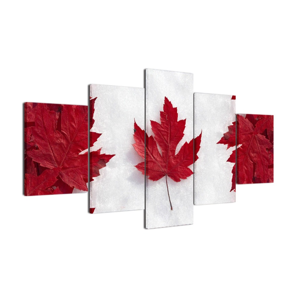 Printed Painting Canadian Flag Canvas Print Painting Framed Home