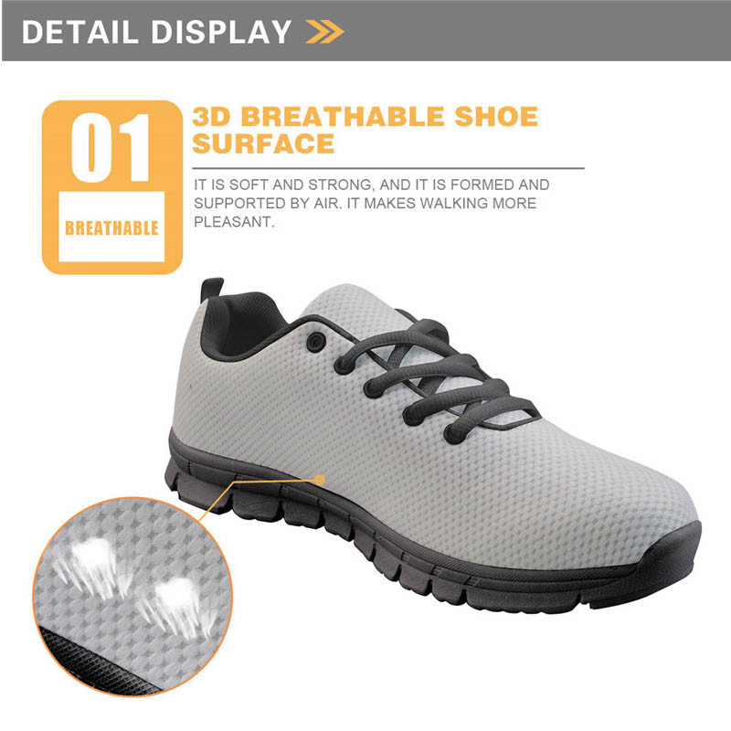 Doginthehole Great Pyrnenees Pattern Walking Shoes Women Outdoor Sports Shoes Ladies Sneakers Lace Up Tennis Hombre High Quality in Walking Shoes from Sports Entertainment