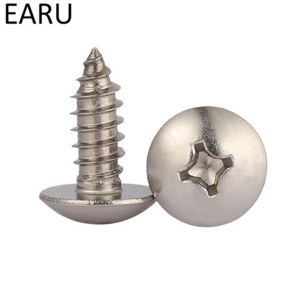 GB/T 50pcs M3*6--40mm 304 stainless steel large flat head self tapping screw round head phillips truss mushroom screws 340pcs truss stainless steel phillips screws set for woodworking round head cross m3 m4 pwa self tapping screw fastener kit