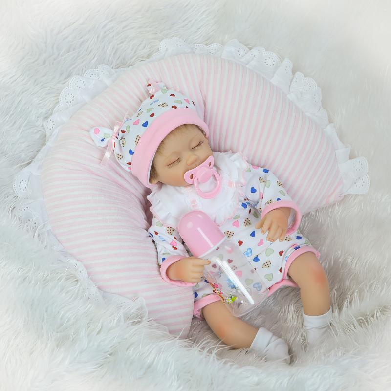 цены на NPKCOLLECTION Hair Rooted Realistic Reborn Baby Dolls Soft Silicone 18