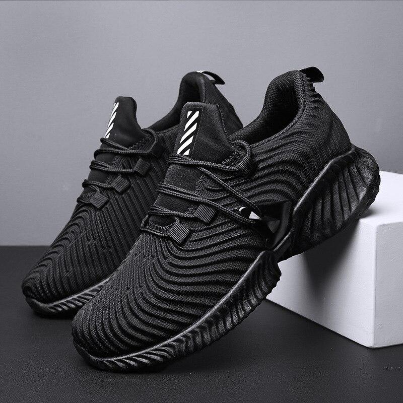 2019 nouvelles chaussures pour hommes chaussures décontractées chaussures respirant volant tissage Kanye West tricot antidérapant Air Mesh hommes chaussure