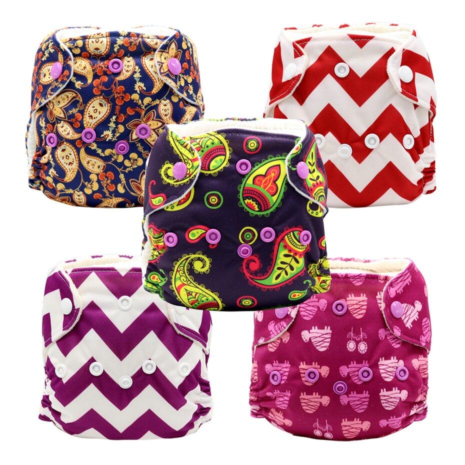 5 pièces MABOJ nouveau-né couches en tissu tout en un couches imperméable respirant confortable pour moins de 16 livres nouveau-né bébé