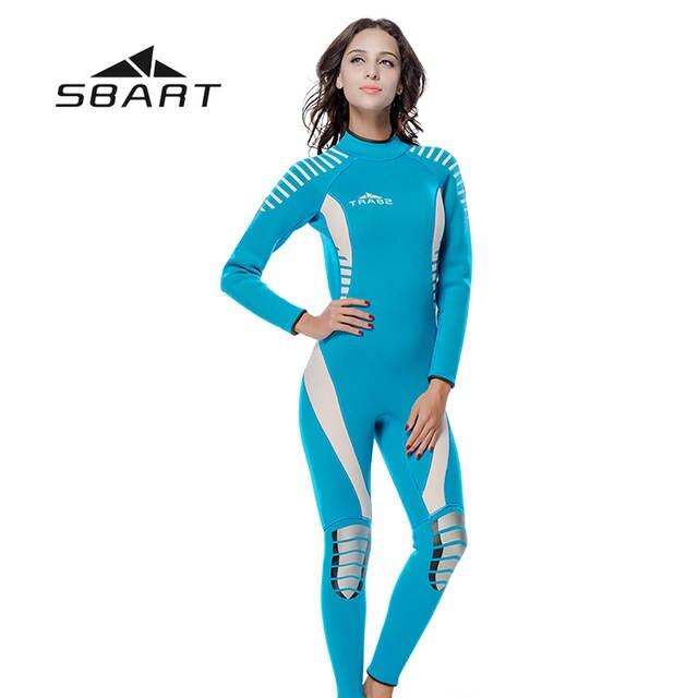 231623a4df SBART Women Kite Surfing Snorkeling Wetsuit Triathlon Scuba Diving Suit  Spearfishing Swimsuit Full Body Jumpsuit 3mm Neoprene