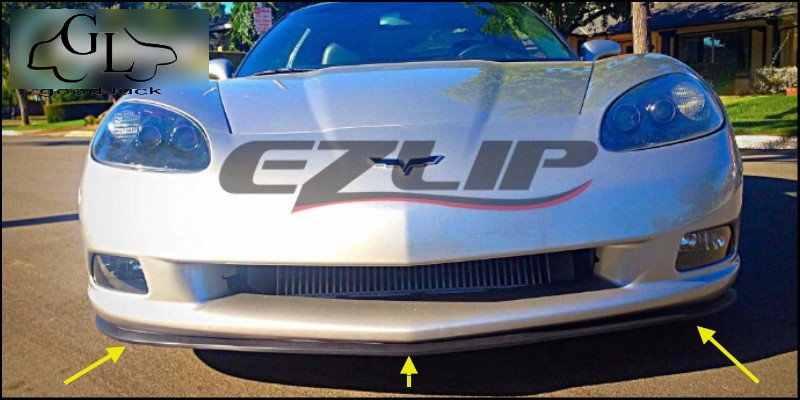 For Chevrolet Corvette C4 C5 C6 C7 Bumper Lip Lips / Car Lip Shop Spoiler /  Body Kit + Strip / Car Scratch Proof Adhesive Strip