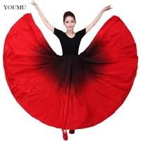 Women Latin Practice Dance Skirt Chinese Style Cha Cha Spanish Frill Modern Ballroom Dance Performance Costume Skirts 803 321